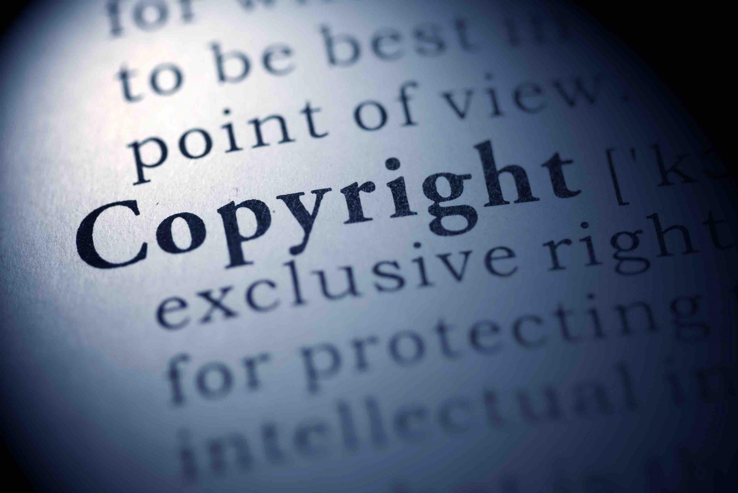 """Ausschnitt einer Seite mit dem Wort """"Copyright"""""""