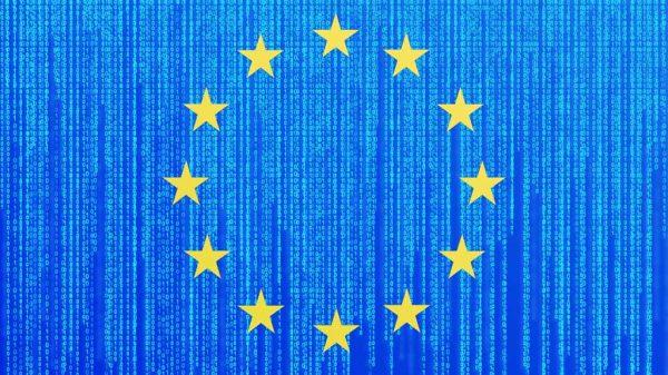 Europa-Flagge mit Programmcode