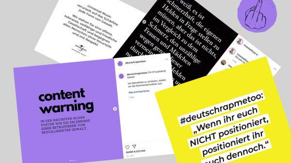 Der Hashtag #deutschrapmetoo schlägt hohe Welle in sozialen Netzwerken.