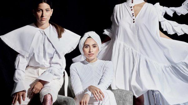 Die Prothesenträgerinnen Dareen Barbar, Rania Hammad und Zainab Al-Eqabi posieren für ein Foto.