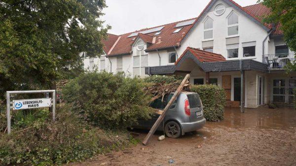 Das Gebäude des Lebenshilfe Hauses nach der Überschwemmung.