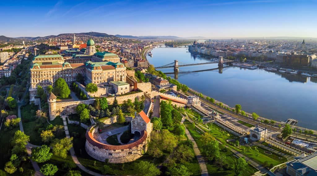 Die Buda Burg in der ungarischen Hauptstadt Budapest