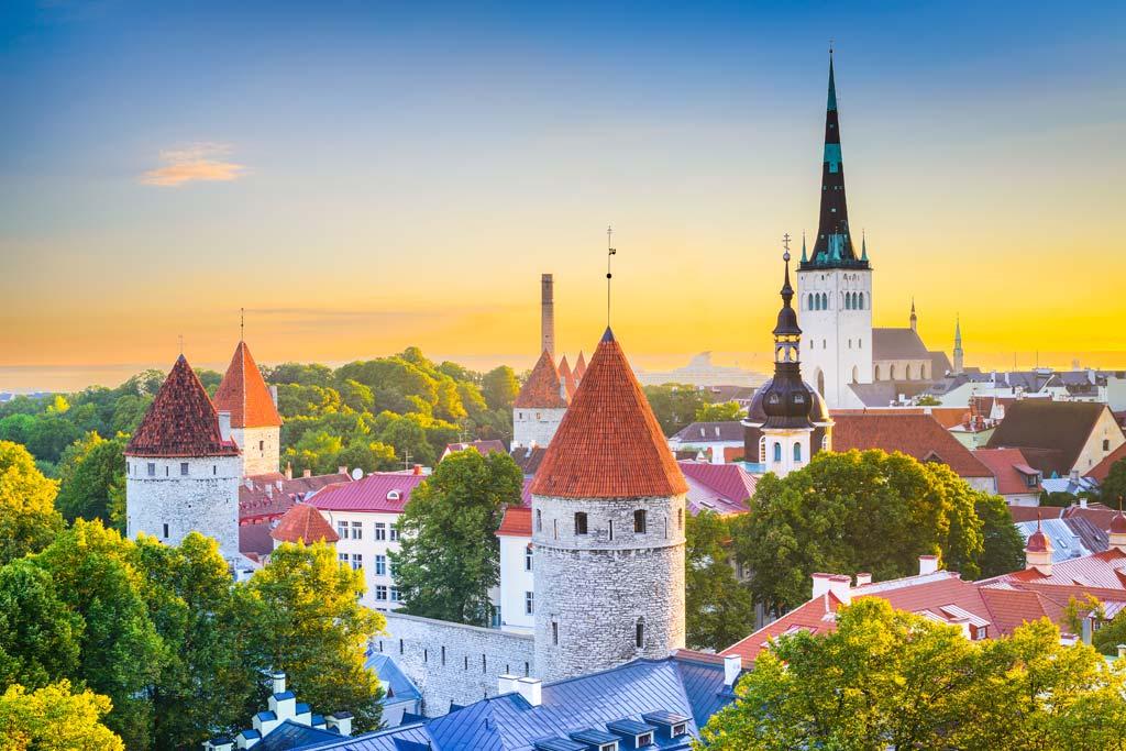Die Altstadt Talinns in Estland