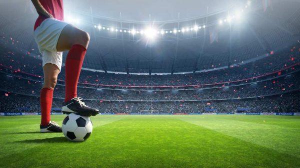 Fußballer im Stadion