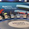 Wahlstudio des ZDF zur Bundestagswahl.