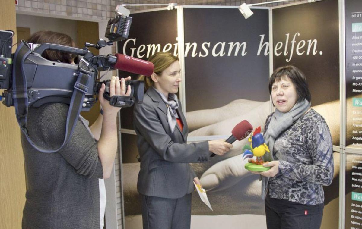 Irina Gerono bei einem Interview.