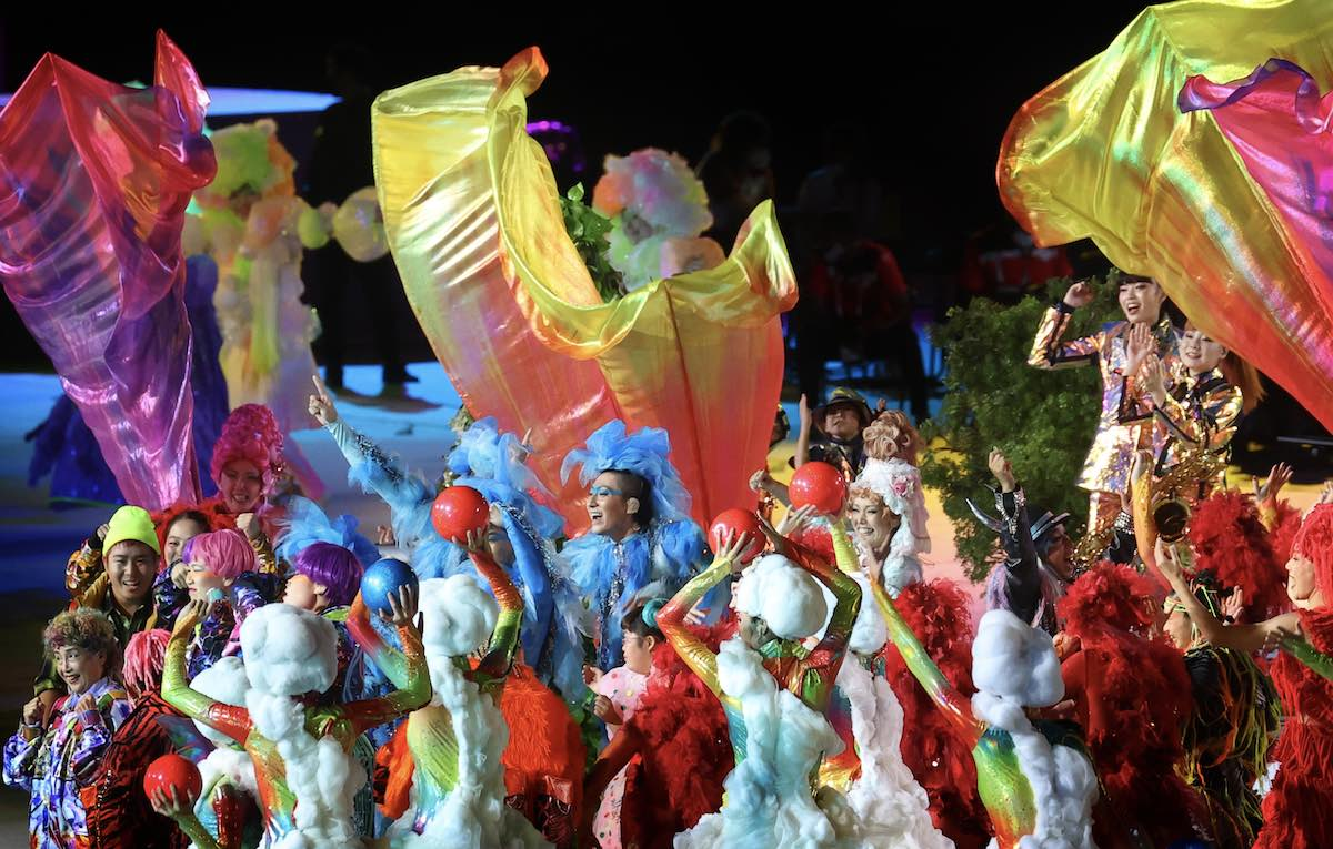 Farbenfrohe Abschlussfeier der Paralympischen Sommerspiele im japanischen Tokio.