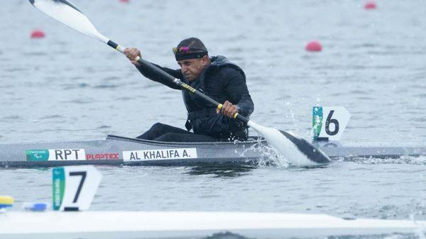 Anas Al Khalifa im Kanu