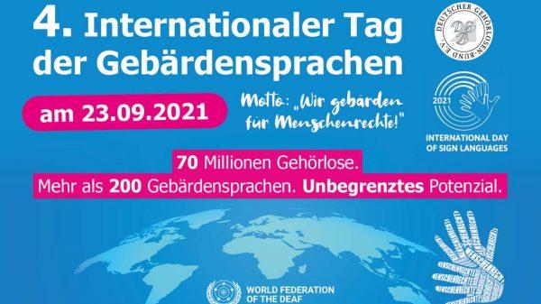 Plakat Internationaler Tag der Gebärdensprache