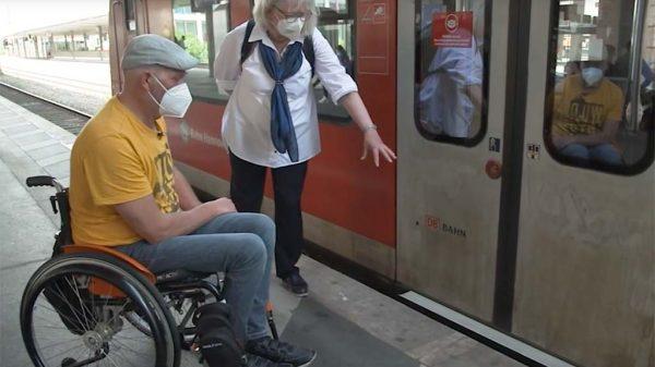 ÖPNV-Test mit Rollstuhl