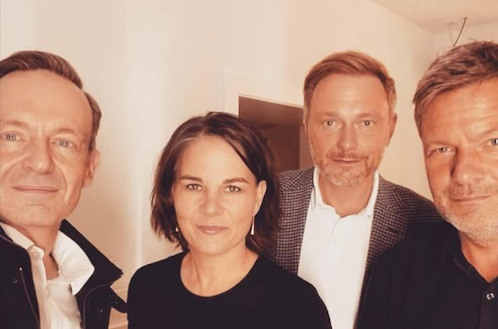 Instagram-Foto Wissing, Lindner, Baerbock, Habeck