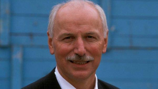 Moderator Wieland Backes 2002 auf der Frankfurt Buchmesse