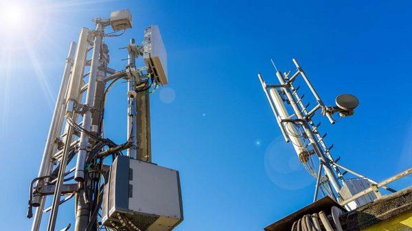 Ein Funkmast für das neue 5G-Netz.